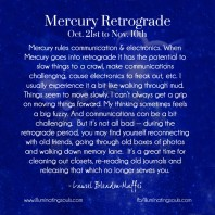 Mercury Retrograde Survival Guide – Oct. 2013